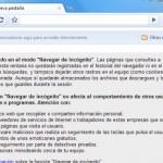 Google Chrome y las páginas incógnitas