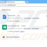 Como eliminar extensiones en Google Chrome