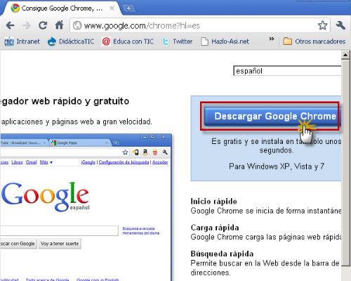Descargar e instalar Google Chrome